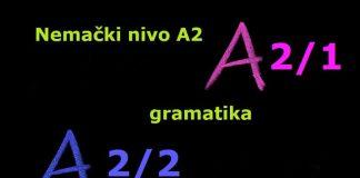 A2 nemački gramatika lista