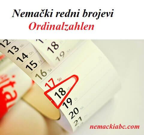 nemački redni brojevi
