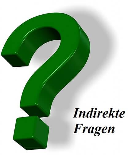 nemački indirekte Fragen
