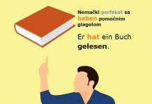nemački perfekat sa haben pomoćnim glagolom